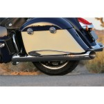 Pinnacle Saddlebag Protector Rails Chrome