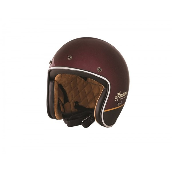 Casca Indian Retro Open Face Helmet Red