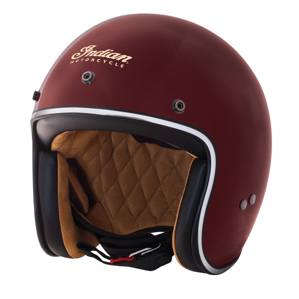 Casca Red Retro Open Face Helmet by Indian Motorcycle
