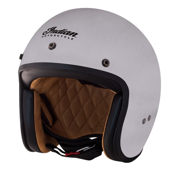 Casca Silver Retro Open Face Helmet by Indian Motorcycle