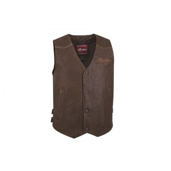 Men's Indian Motorcycle Leather Vest