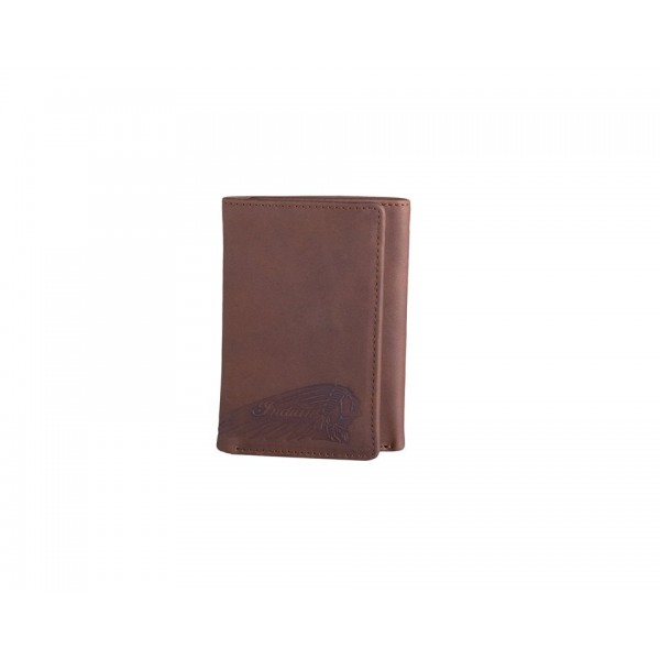 Portofel Indian Motorcycle tri fold Brown