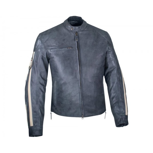 Geacă de piele Indian Men's Perforated Route Jacket